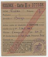 Broze, Tarn,France De Vichy, Rationnement, Restrictionns,mise En Ciculation, Essnce, Carte B, Portes, Préfecture Du Tarn - Documents Historiques