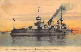 """BATEAU DE GUERRE Warship ( France  ) Le """" CHARLEMAGNE """" Cuirassé D'Escadre - CPA - Kriegsschiff Oorlogsschip - Guerre"""