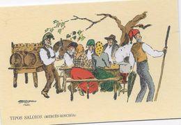 PORTUGAL- Tipos Saloios (Mercês-Rinchôa)- Desenhos De Leal Da Câmara. - Europe