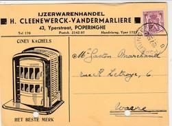 Poperinghe, Carte  Publicité, H.Cleenewerck-Vandermarliere,CINEY Kachel - Poperinge