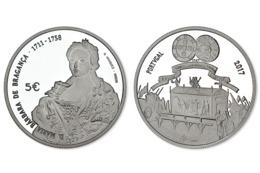 """PORTUGAL 5€   2.017  2017  """"D.MARIA BARBARA DE BRAGANÇA 1711-1758""""  CU-NI  SC/UNC   T-DL-12.141 - Portugal"""
