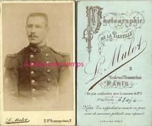 CDV Soldat Du 102e Régiment-photographie De La Bastille Mulot à Paris - Guerre, Militaire