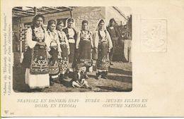 EUBEE   Jeunes Filles En Costume National Entier Postal N°347 Du SERVICE DES POSTES HELLENIQUES - Grecia