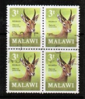 MALAWI   Scott # 150  VF USED BLK. Of 4 - Malawi (1964-...)
