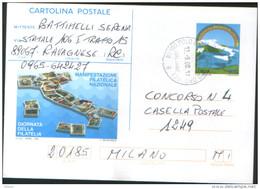 Italia Italy 1998 Cartolina Postale Giornata Della Filatelia  Viaggiata VFU - 6. 1946-.. Repubblica