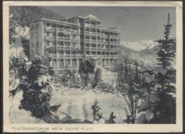 CPSM - DAVOS - PLATZSANATORIUM - Edition M.Meerkämper - TI Ticino