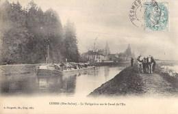 CORRE LA NAVIGATION SUR LE CANAL  PENICHE ATTELAGE BATELLERIE 70 - Non Classés