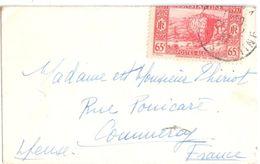 4072 ALGERIE Enveloppe Carte Visite Mignnette 65c Rouge Centenaire Prise Constantine Yv 131 Ob 1937 Dest Commercy Meuse - Briefe U. Dokumente