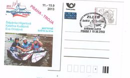 Czech Rep. 2013 - Worldchampionchip In Prague, Gold And Silber Medal, Postal Special Stationery And Cancellation - Canoa