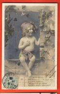 IBZ-23  Sans-Souci, Poème. Garçonnet, Un Ange Rose. Cachet Frontal - Babies