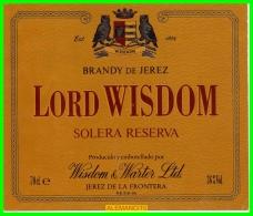 ETIQUETA -  BODEGAS  WISDOM  JEREZ DE LA FRONTERA - Etiquetas