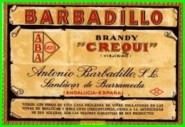 ETIQUETA -  BODEGAS  BARBADILLO ..  SANLUCAR DE BARRAMEDA - Etiquetas