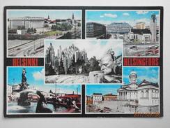 Postcard Helsinki Helsingfors Suomi Finland Multiview PU 1986 My Ref B21833 - Finland