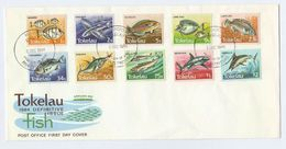 1984 TOKELAU  FDC Stamps FISH Cover - Tokelau