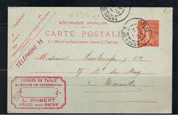 ARLES SUR RHONE, L. ROBERT, Pierres De Taille, Carte 1908, à Hte BOULENGER Et Cie, FAIENCERIE à MARSEILLE, Voir 2 Scans - Arles