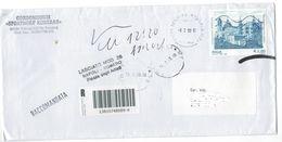 """Italia - Italy 2009 Busta Affrancata Con Valore Da 2,80E Emissione 2008 """"Patrimonio Unesco - Urbino """" Viaggiata VFU - 2001-10: Marcophilia"""