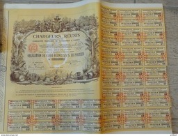 Chargeurs Réunis Société Anonyme Compagnie Française De Navigation A Vapeur 1000 Francs 5,5% 1939 - Navigation