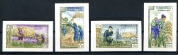 Laos, 1963, Freedom From Hunger, FAO, United Nations, MNH Imperforated, Michel 128-131B - Laos