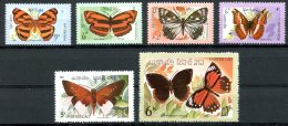 Laos, 1982, Butterflies, Insects, Animals, MNH, Michel 554-559 - Laos