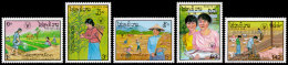 Laos, 1987, World Food Day, FAO, Food And Agriculture Organization, United Nations, MNH, Michel 1045-1049 - Laos