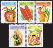 Laos, 1995, Plants, Flowers, Nature, MNH, Michel 1475-1479 - Laos