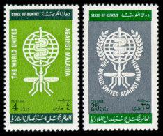 Kuwait, 1962, Fight Against Malaria, WHO, United Nations, MNH, Michel 173-174 - Kuwait
