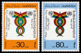 Kuwait, 1981, World Communication Day, ITU, United Nations, MNH, Michel 891-892 - Kuwait
