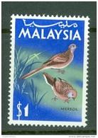 Malaysia: 1965   Birds   SG24    $1   MH - Malaysia (1964-...)