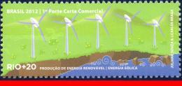 Ref. BR-3218U BRAZIL 2012 ENVIRONMENT, RIO+20, UNITED NATIONS,, WIND ENERGY, MNH 1V Sc# 3218U - Brazil