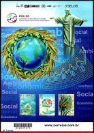 Ref. BR-3219 BRAZIL 2012 ENVIRONMENT, RIO+20, UNITED NATIONS, CONFERENCE, SUSTAINABLE DEVELOPMENT, MNH 3V Sc# 3219 - Brazil