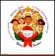 Ref. BR-3229 BRAZIL 2012 CHRISTMAS, RELIGION, CHORAL,, SELF-ADHESIVE MNH 1V Sc# 3229 - Unused Stamps
