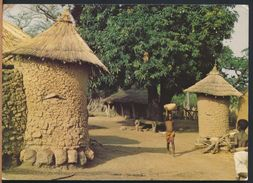 °°° 6593 - COTE D'IVOIRE - BOUNDIALI - VILLAGE TYPIQUE - 1986 With Stamps °°° - Costa D'Avorio