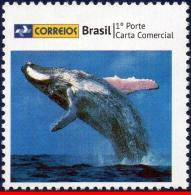 Ref. BR-3258-15 BRAZIL 2013 SEA MAMMALS, BLUE WHALE,, PERSONALIZED STAMP, MNH 1V Sc# 3258 - Unused Stamps