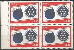 Peru - 1988 Rotary International Block Of 4 MNH **      Sc 931 - Peru