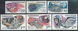 Czechoslovakia    1973    Sc#1874-9  Space Set   MNH**   2016 Scott Value $5.80 - Czechoslovakia