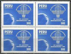 Peru - 1985 Aerospace Block Of 4 MNH **      Sc 838 - Peru