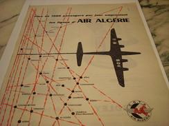 ANCIENNE PUBLICITE AIR ALGERIE   1958 - Publicités
