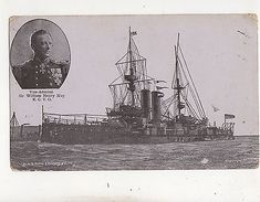 HMS King Edward VII Vice Admiral William Henry May 1913 Postcard 674b - Guerre