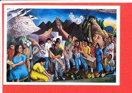 NICARAGUA Solidarité Cpm Fresque De Léonel Cerrato - Nicaragua