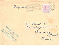 4076 Belgique Imprimé Destination France Commercy Meuse 1F Lion Blason Ob 27 5 1960 BRUXELLES Protection Animal - Cartas