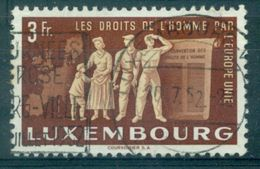 LUXEMBOURG N° 447 EUROPE UNIE  Oblitéré TB.cote : 35 €. - Usati