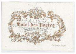 Carte Porcelaine Lithographiée (19e S.) / Porseleinkaart /  DINANT / LALIEU -- HOTEL DES POSTES -- - Dinant