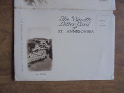 51806 LANCASHIRE: ST.ANNES-ON-SEA. The Vignette LETTER CARD Showing Views Of The Bridge & Ashton Gardens. - Angleterre