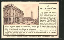 CPA Paris, La Place Vendôme - Zonder Classificatie