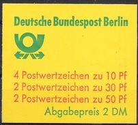 Berlin August 1980 / MiNr.  MH 11 C B OZ    Mit  H-Blatt 19    ** / MNH    (mh1380) - [5] Berlin