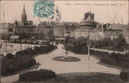 ! Old Postcard Saint Malo, Eisenbahn, Chemin De Fer, Tram - Treinen
