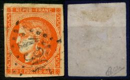 France N° 48 Obl. GC 1307 - Signé Calves - Cote 155 Euros - 1er Choix - 1870 Emission De Bordeaux