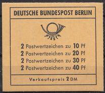 Berlin Sept. 1972 / MiNr.  MH 8 A    Mit  H-Blatt 16    ** / MNH    (mh1382) - Berlin (West)