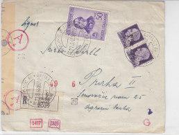 R -Zensurbrief Aus FIUME 21.8.43 Nach Prag - 1900-44 Victor Emmanuel III