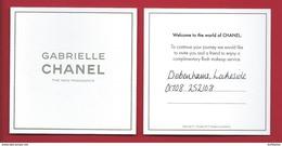 CHANEL GABRIELLE * CARD * 9 X 9 Cm * V/R - Modernas (desde 1961)